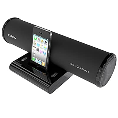 AZATOM® House Dance Black: iPod - iPhone - iPod Touch and Nano docking station speaker. Produces 24 Watts of High Quality Sound - Great Vocals and Deep Bass reproduction - Unique scratch resistant design - Full Remote control - The House Dance offers ama