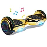 Gold Lamborgini Hoverboard Lambo Super Fast Safe Smart Two Wheel Self Balancing Electric Scooter Rider Hover Board Skateboard Fly Glider Roller UL2272 Certified