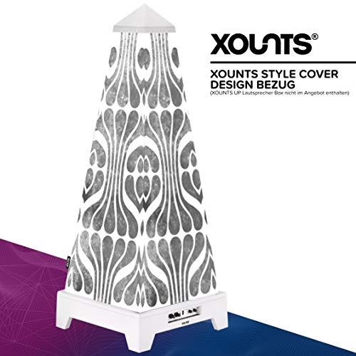 XOUNTS Style Cover 'Wallpaper Vintage – Premium Flies-Cover für XOUNTS UP Musikanlage – Design-Cover mit Retro-Muster – Einzigartiges Lichtspiel – Als Zubehör für XOUNTS UP Lautsprecher