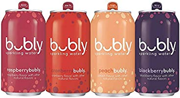 bubly Sparkling Water, Tropical Thrill Variety Pack