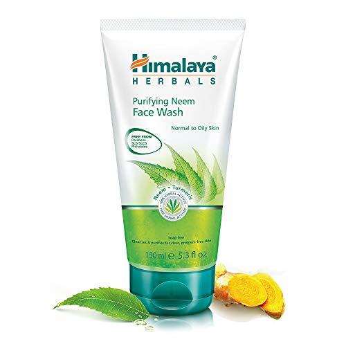 Himalaya Herbals - Espuma Limpiadora Purificante De Neem y Curcuma, Hidratante Facial Natural, 150 ml