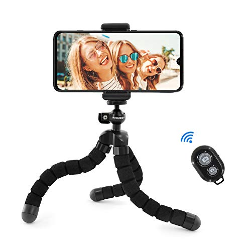 Treppiede Portatile Octopus Style con Supporto per iPhone, Qualsiasi Smartphone, Videocamera con Clip Universale