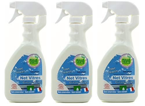 Bulle Verte – Net Cristales – Pulverizador 500 ml – Lote de 3