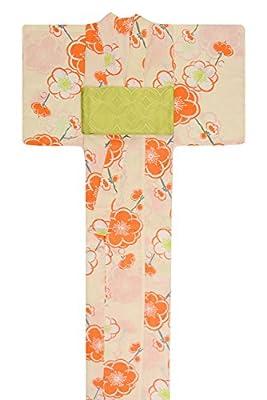 KimonoMode24 Women's Japanese Yukata And Green Obi Set/ Cherry Blossom Pattern