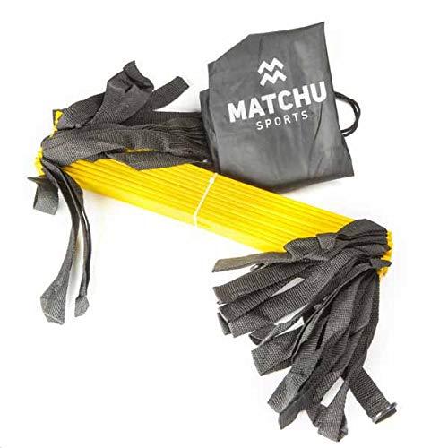 Matchu Sports - Speedladder - Loopladder - 5m lang - Perfect voor het trainen van: snelheid, uithoudingsvermogen en coördinatie