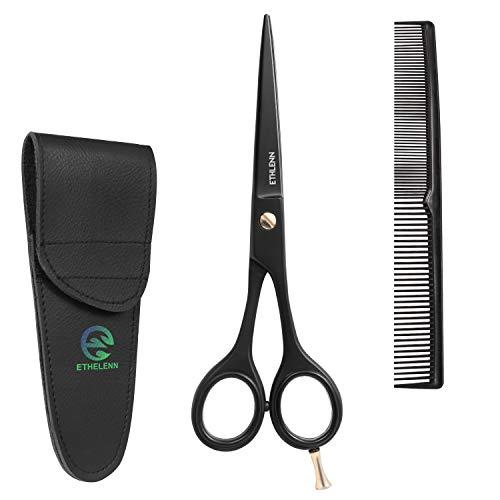 Ethelenn Hairdressing Scissors Professional Hair Cutting Scissor 6.5 Inch Hair Scissors for Men Women & Kids Japanese Stainless Hair Dressing Sizzors Super Sharp Barber Scissors with Free Hair Comb