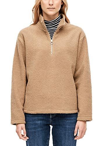 s.Oliver Damen 14.910.41.2842 Sweatshirt, Braun (Light Cognac 8452), (Herstellergröße: 38)