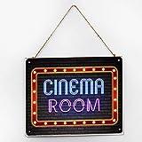 by Unbranded Señal de madera sala de cine, señal de madera para decoración de café de granja, adornos colgantes, signo motivacional de madera, letreros de porche