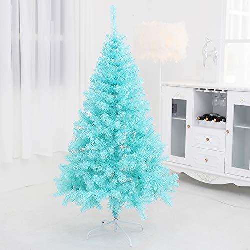 Blue Artificial Árbol De Navidad, Ignífugo Árbol De Navidad con Soporte De PVC Vacaciones Decoración Interior Exterior Decoración De Año Nuevo-Azul 120cm(4 Feet)