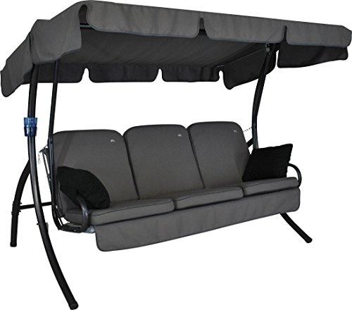 Angerer 41900/136/31 Comfort Style Hollywoodschaukel Style, Grau, 3-Sitzer,210 x 145 x 160 cm