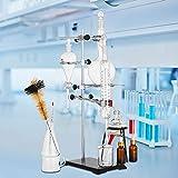 VEVOR Professional Laboratory Distillation Glass Kit 25 Pezzi, Unità di Distillazione del Vetro da Laboratorio, Apparecchio di Distillazione del Condensatore, Distillazione di Acqua Pura 500 ml