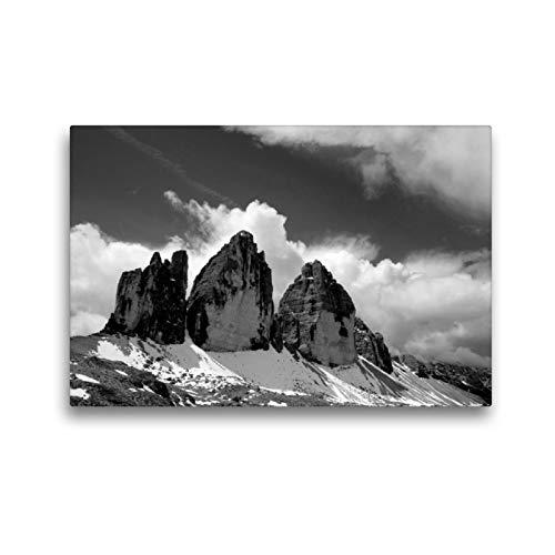 Premium Textil-Leinwand 45 x 30 cm Quer-Format Naturpark Drei Zinnen | Wandbild, HD-Bild auf Keilrahmen, Fertigbild auf hochwertigem Vlies, Leinwanddruck von Günter Linderer