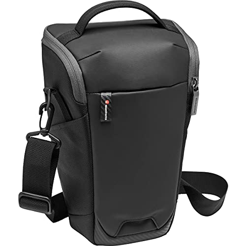 Manfrotto MB MA2-H-L Advanced² Camera Holster L, Large, for DSLR and Mirrorless with Long Lens, with Removable Shoulder Strap, Tripod Attachment, Coated Fabric, Black