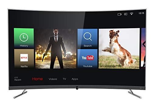 TCL 65DP676 Curved Fernseher 164 cm (65 Zoll) Smart TV (4K UHD, HDR, Dolby Digital Plus, T-Cast, Triple Tuner) Dunkelsilber