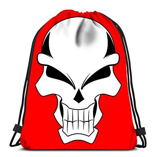 Kordelzug Rucksack Taschen Sport Cinch Ziege Kopf im Feuer für die Schule Gym