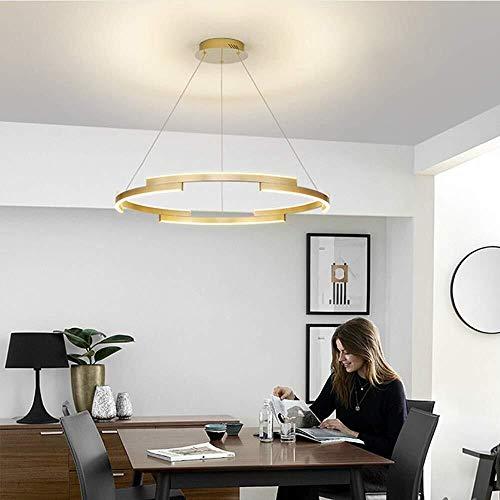 WSJTT Calefactor Ara?a Dorada Personalidad Creativa Ara?a Iluminación nórdica Sala de Estar Luz posmoderna Restaurante Redondo Luz de Lujo (Tama?o:80 CM) (Size : 60cm)