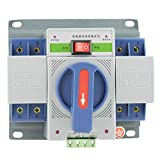YOPOTIKA Fuente de Alimentación Segura Del Controlador de Cambio Del Generador Del Interruptor de Transferencia Automática de 2P Dual Power