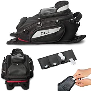 Compatible con Honda ST 1100 Pan European CBS ABS TCS bolsa de depósito para moto OJ M166+M115 Sharp 11,5 l bolsa con enganche universal de correas o imanes todo incluido mochila negra 22 x 35 x 15 cm