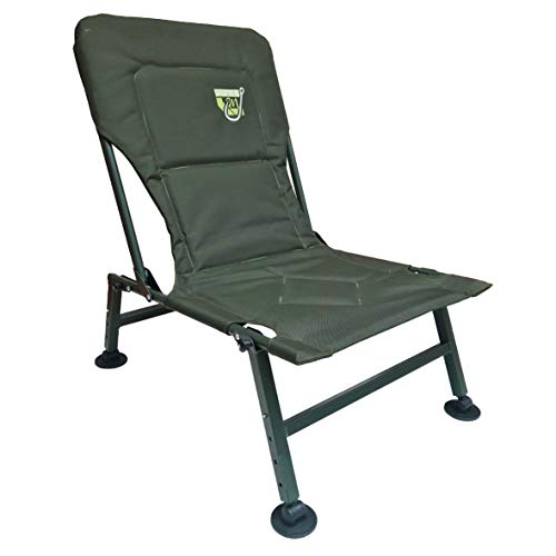 Carp On - Classic Fishing Chair Padded Comfort 600D Heavy Duty Strong 78 x 45 x 60cm - Use Outdoors on the Riverside or Bank [26-002]