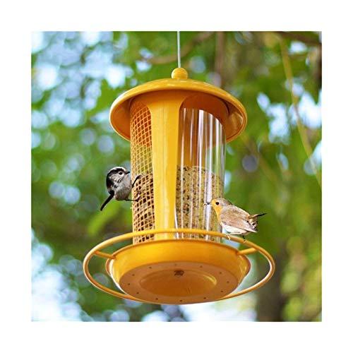 Alimentador de pájaros al aire libre Metal a prueba de ardilla Colgante salvaje, alimentador de aves Pájaro Pájaro Alimentador Catcher Patio Decoración de la casa, para Finch Cardinal Bluebird Humming