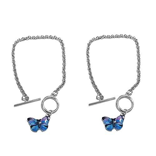 THj Pulseras de Cadena Estilo Mariposas Azules para Parejas, Mujeres, Hombres, Joyas, Regalos, Lakeblueset