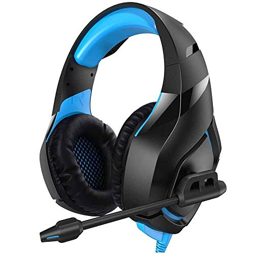 Kaper Go Head-Mounted Gaming Headset PS4-Headset Mit 7.1 Stereo-Surround-Sound, Xbox One-Headset Mit Noise-Cancelling Mikrofon, for PC, PS3, PS4, Xbox One (Adapter Erforderlich), Nintendo-Switch