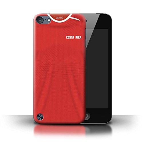 Stuff4® Custodia/Cover/Caso/Cassa Rigide/Prottetiva Stampata con Il Disegno Coppa Mondo 2018 Maglietta Calcio per Apple iPod Touch 5 - Costa Rica/Rican
