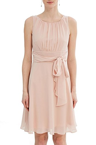 ESPRIT Collection Damen Kleid 027EO1E005, Blau (Navy 400), 36