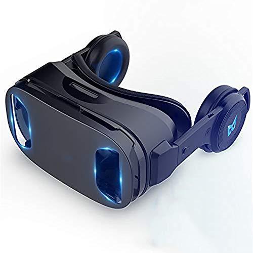 AMY Juego De Gafas VR, Auriculares De Realidad Virtual Gafas VR 3D para Juegos Móviles Pantalla Completa 120 ° Gran Angular Desmontable Compatible con La Plataforma Android Plataforma iOS
