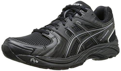 ASICS Women's Gel Tech Neo 4 Walking Shoe,Black/Black/Silver,6 M US