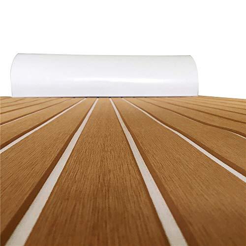 Deluxe Marine - Suelo de teca sintética EVA para suelos de autocaravanas, piscinas, suelos de jardín, barcos, cubierta de vinilo, imitación de madera de teca, yates, estera antideslizante
