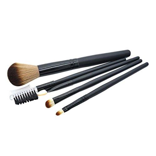 URSING 5 Pcs Maquillage Brosse EyeShadow Brush Cosmétiques Outil de Brosse de Mélange Pinceaux Maquillage Kit Professionnelles pour les Yeux Eyeliner Fard à Paupières Sourcils Fond de Teint Brosses à Mélanger les Poudres et Crèmes Liquides Outils de Maquillage avec Premium Manche en Pinceaux de maquillage (14.5cm, Noir)
