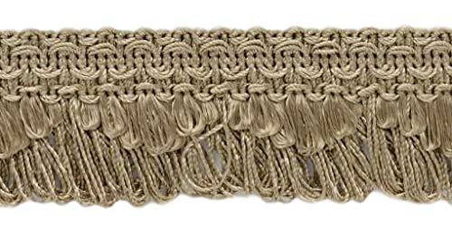 Decorative Dark Sand Beige Scalloped Loop Fringe / Braid, 35mm, 11 Meter Value Pack, Style# 9115 Color: A8 (C07) (36 Ft / 12 Yards)