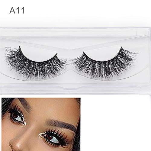3D Cils de Vison Maquillage Dramatique épais épais Faux Cils Maquillage Extension Fait à la Main léger (1 Paires)