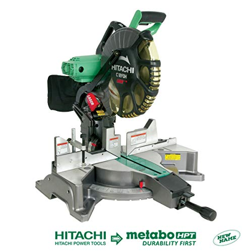 Hitachi C12FDH 15 Amp 12-Inch Dual Bevel Miter Saw with Laser...