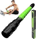 Muscle Roller Leg Massager - Best Massage Roller Stick for Athletes - Deep Tissue - Trigger Points, Cramps, Quads, Calf & Hamstring Tightness, Myofascial Release (GRN)
