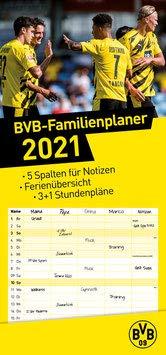Borussia Dortmund BVB Familienplaner, Jahreskalender, Kalender 2021