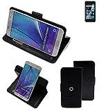 K-S-Trade® Handy Hülle Für Archos Sense 47X Flipcase Smartphone Cover Handy Schutz Bookstyle Schwarz (1x)