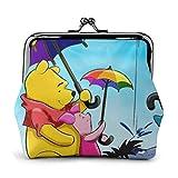 JHGFG Winnie The Pooh Umbrella Women's Cute Buckle Coin Purse