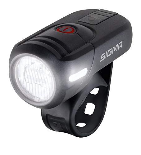 SIGMA SPORT - Aura 45 | LED Fahrradlicht 45 Lux | StVZO zugelassenes, akkubetriebenes Vorderlicht