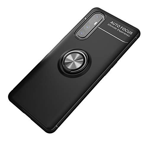 SORAKA Hülle für Oppo Find X2 Neo 5G mit 360 Grad drehbarem Ringständer Weiches Silikon Ultradünn Schutzhülle mit Metallplatte für Handyhalterung Auto KFZ Magnet Stoßdämpfung Anti Fingerabdruck