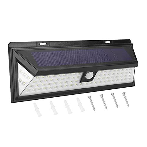 Lámpara de Pared LED Sensor de Movimiento a Prueba de Agua con energía Solar Lámpara de Exterior Lámpara de Pared de jardín de inducción(86)