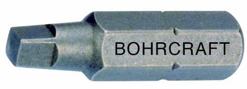 Bohrcraft Schrauber-Bits 1/4 Zoll für Robertson Vierkant Schrauben, Größe 3 x 50 mm lose/Werksverpackung, 1 Stück, 61901500350