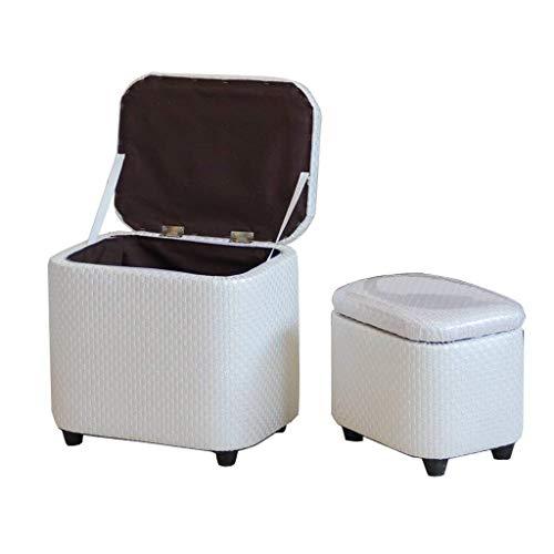 Yxsd - Scatola portaoggetti con coperchio per poggiapiedi con poggiapiedi e poggiapiedi in legno imbottito con cuscino per seduta Max Lounge, 150 kg