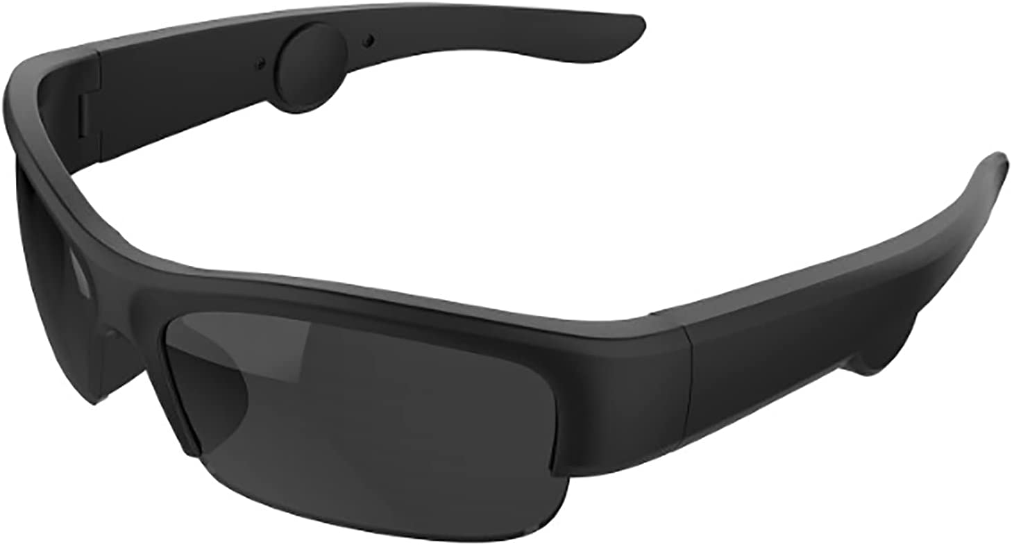 QSMGRBGZ Bone Conduction Smart Glasses,Smart Bluetooth Stereo Sunglasses,Open Ear Canal Sports Glasses,for Call/Music/Outdoor(17814445Mm),Ink Color