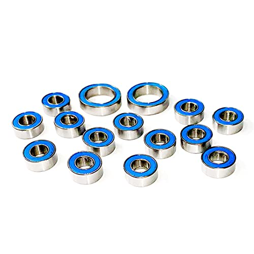 Winter Evening Bearings Kit for ECX 1/10 2WD Boost, Ruckus, Torment, and Amp (15 Pcs)
