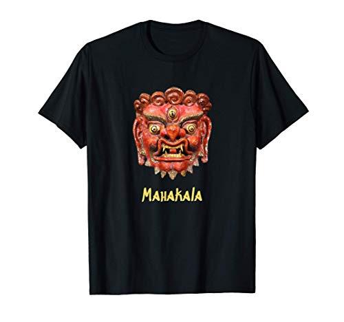 Tibet - Maske Schutzgott Mahakala Meditation Spiritualität T-Shirt