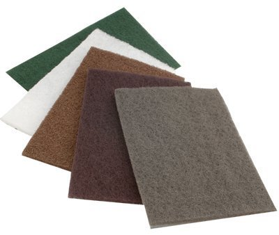 Check Out This Premium Non-Woven Hand Pads, Medium, Maroon, Bulk Pack - 1 Each