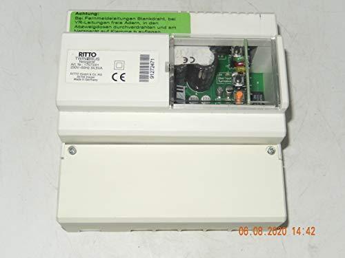 RITTO TwinBus 17573/01-Netzgerät tauglich für 30 Wohneinheiten und 90 Teilnehmer 230V, 50Hz, 34,5VA für Wohntelefonanlage mit Kamera, Codeschloss, unbenutzt NEU im OVP