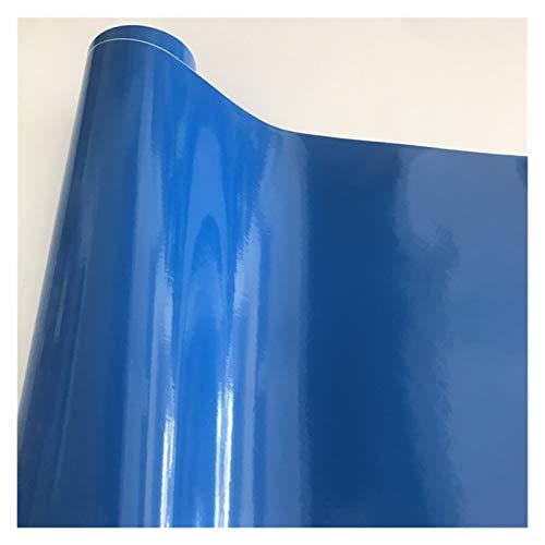 Carbon Folie 10/20/30/40/50 * 152cm Schwarz Glanzvinylfilm Glanz Glänzend Auto-Verpackungs-Folien-Aufkleber mit Luft-Blase Kostenloses Motorrad Car Wrapping Folie Auto (Color Name : Dark Blue)